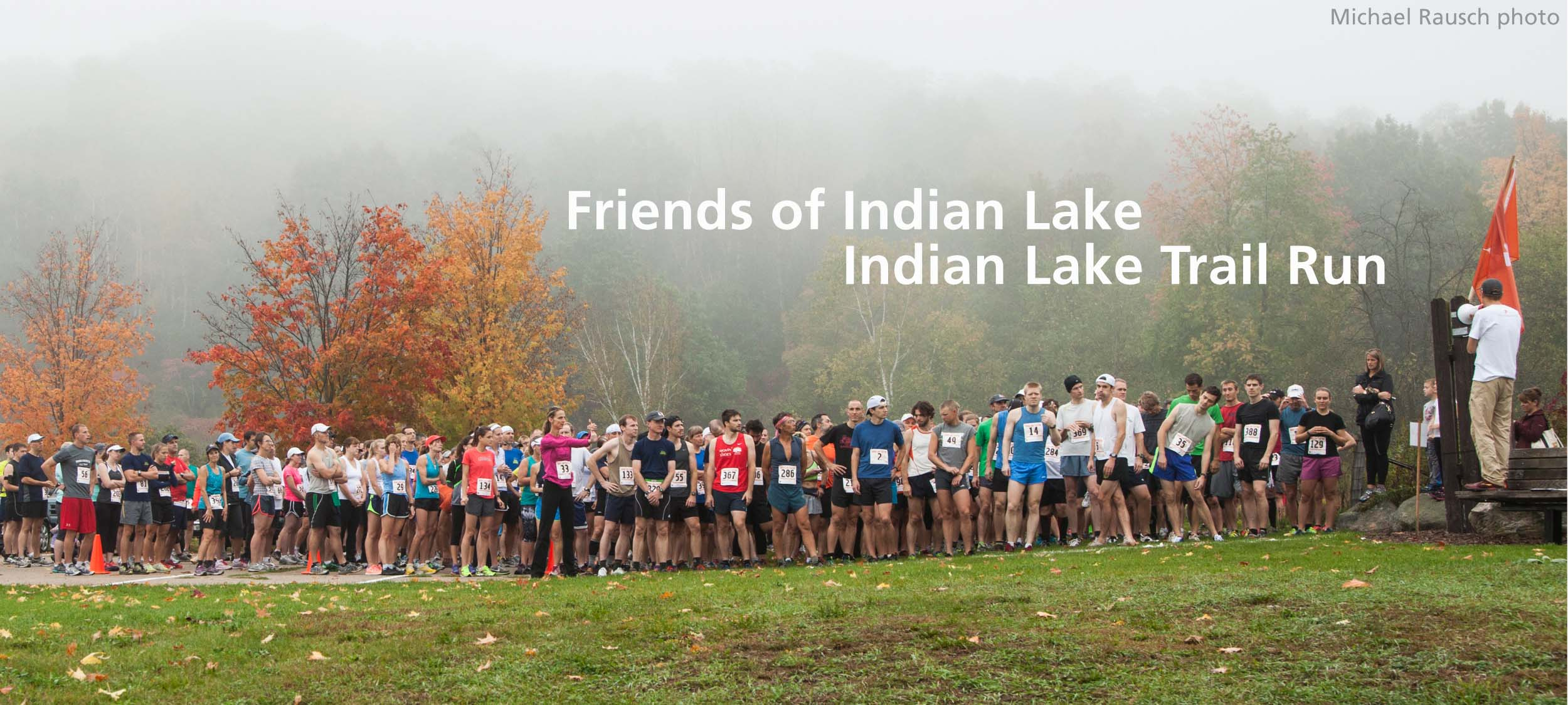 Indian Lake trail run banner